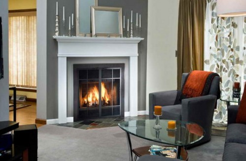 Example Of A Prefab Wood Burning Fireplace 19 Photos Bestofhouse Medium
