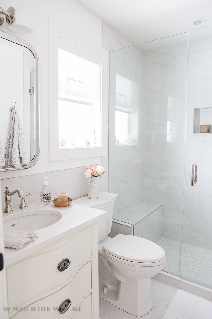 example of a small bathroom renovation and 13 tips to make it feel