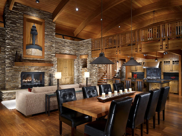 explore rustic italian dining room decor with black leather chairs