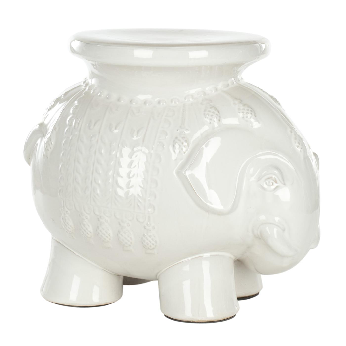 explore safavieh acs4501 thailand elephant ceramic garden stool