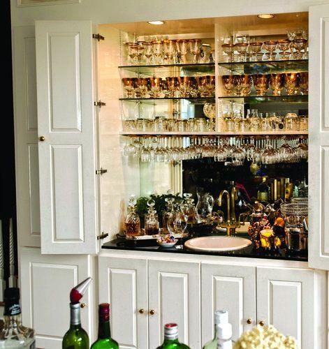 Explore Wet Bar Hidden Behind Cabinet Doors Add A Lock And Key Medium
