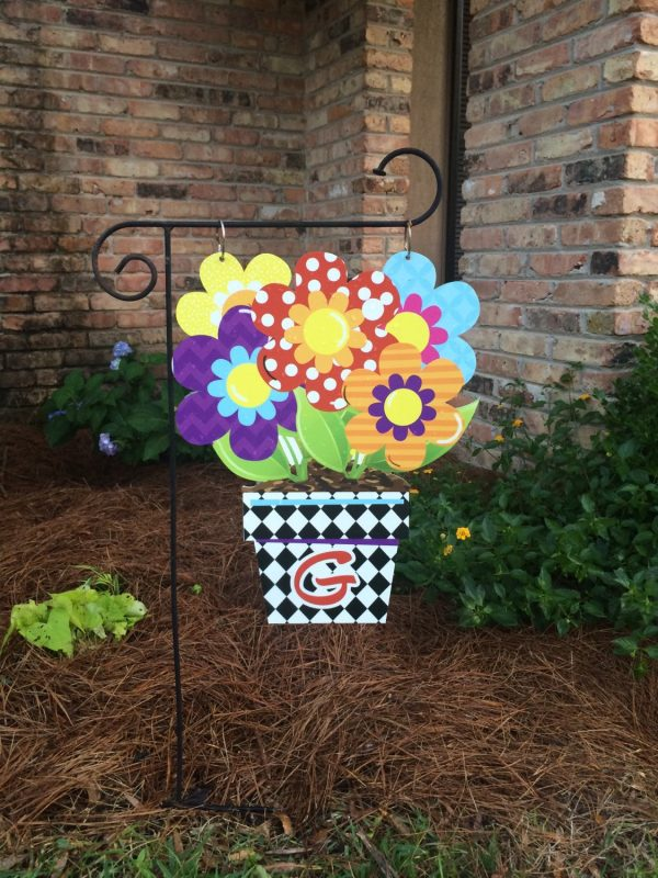 Flower Pot Garden Flag Summer Garden Flag Flower Yard Flag Medium