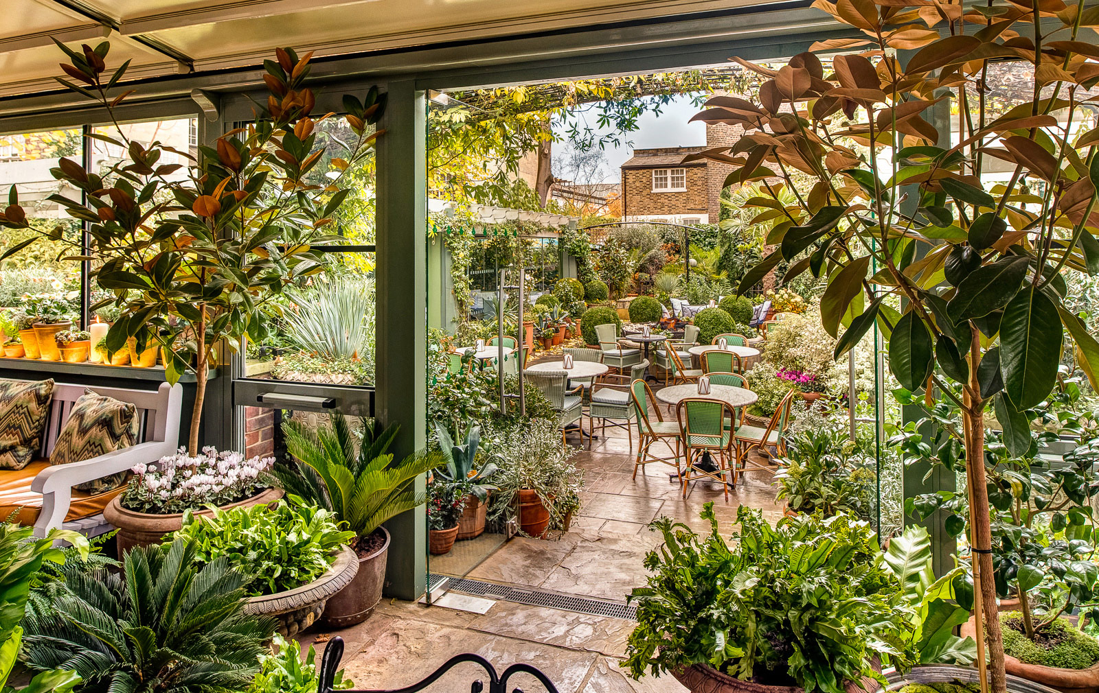 fresh 7 london restaurants with beautiful gardens