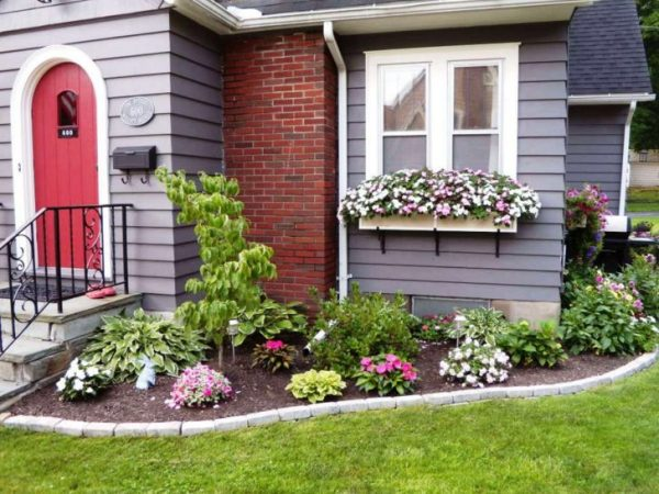 Fresh Catchy Design Flower Bed Ideas Featuring Rectangle Shape Medium
