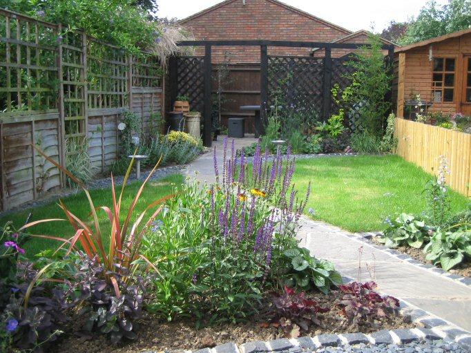 fresh garden clever design ideas for narrow and long outdoor