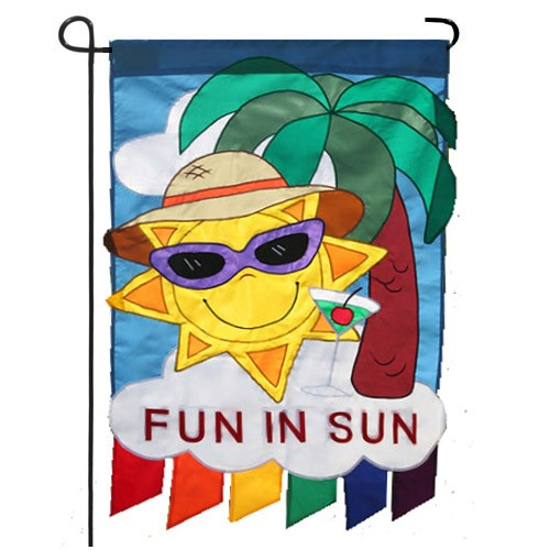 Fun In The Sun Summer Garden Flag  Summer Flags  Seasons Medium
