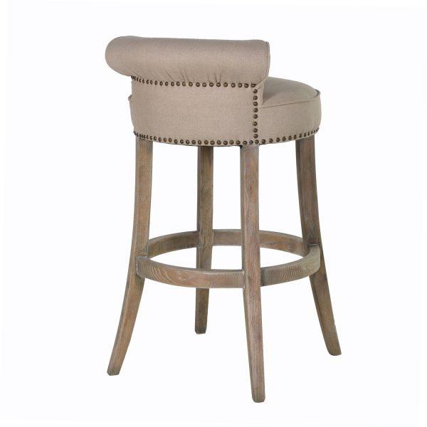 Get Linen Roll Top Bar Stoolbar Stoolssofas   Seating Medium
