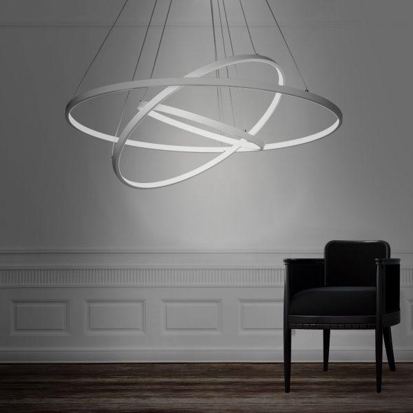 Get Modern 3 Rings Large Led Pendant Light Petagadget Medium