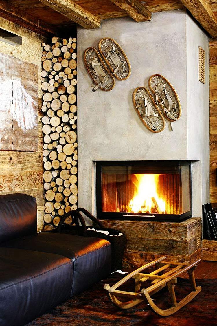 get modern fireplace log store ampezzo meleres in cortina d