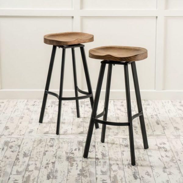 Get New Kitchen Wood Top Bar Stools Renovation Withpomoysamcom Medium