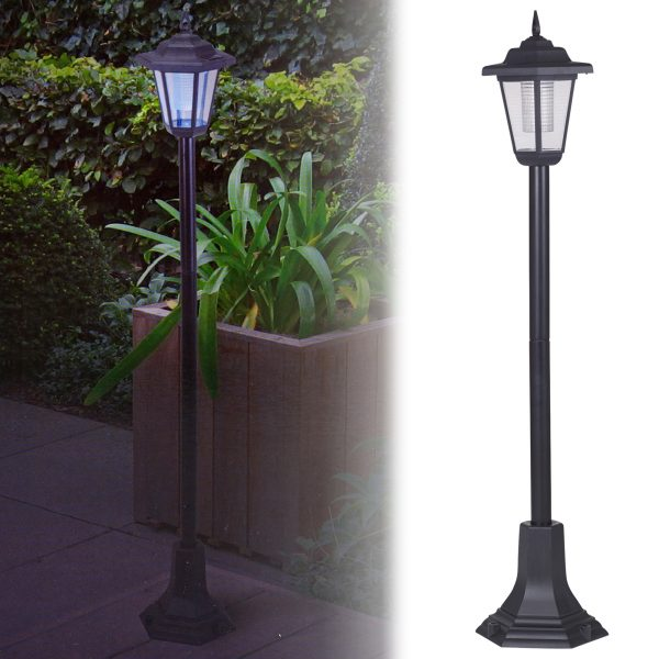 Get Solar Powered Garden Lights Lantern Lamp Black Led Pathway Medium