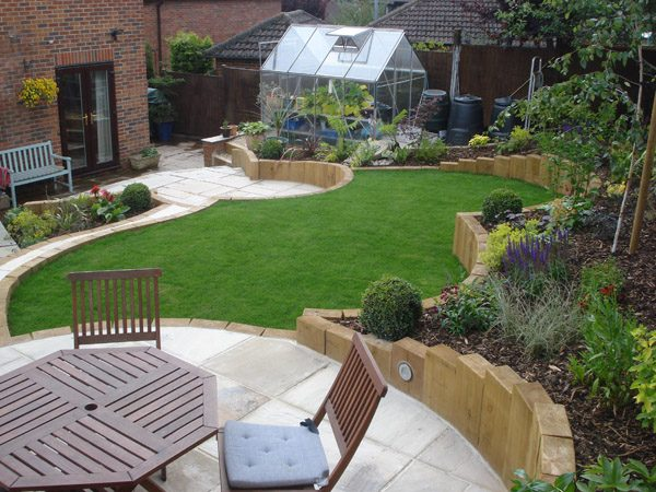 Get Terraced Sloping Garden Lush Garden Design Medium