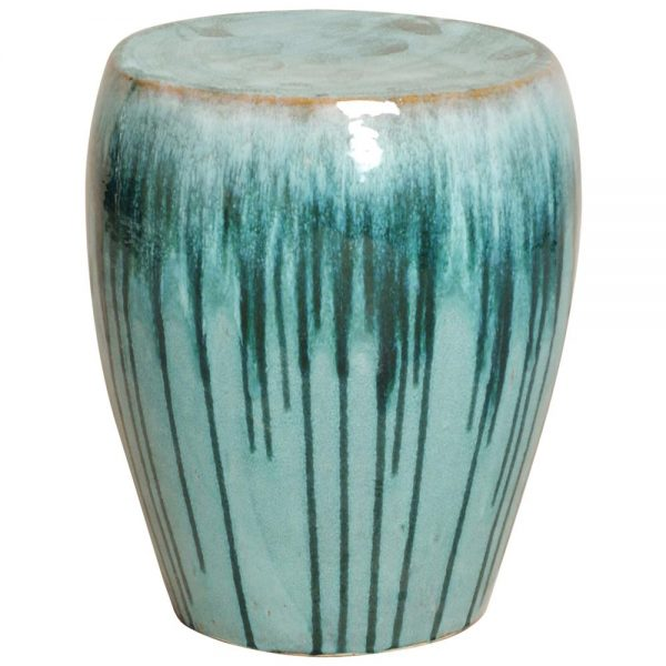 Get Turquoise Teal Drip Coastal Beach Simple Ceramic Garden Medium