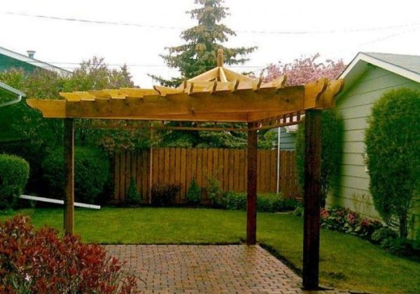 Get Unique Triangular Pergola Landscaping And Outdoor Medium