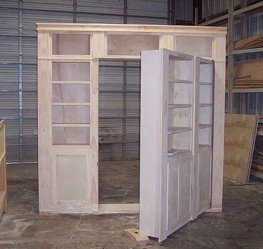 Innovative Construction Of A Hidden Door Shelf System To Hide A Medium