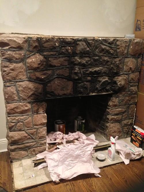 Innovative Fireplacepaint Or Not Paint Medium
