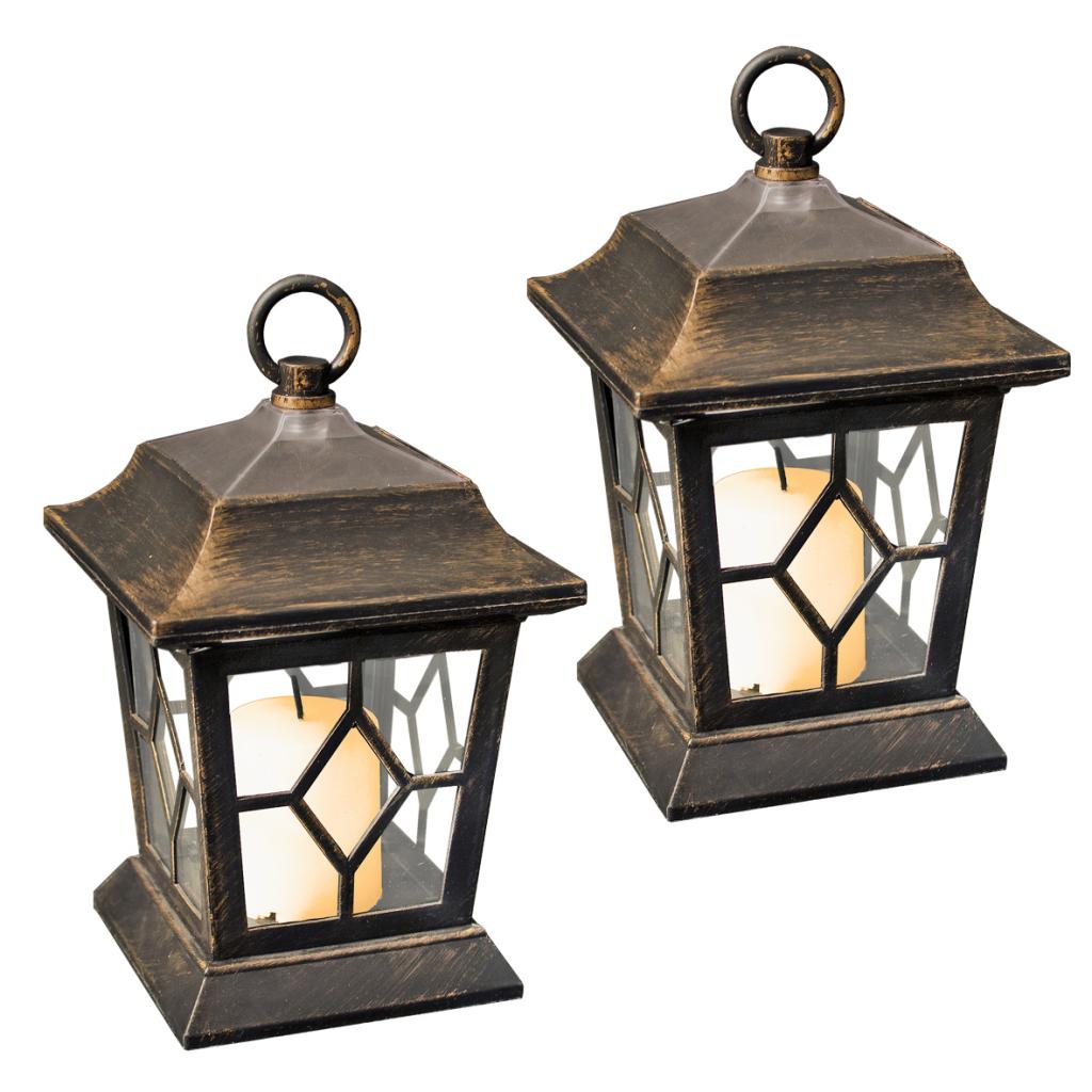 innovative gardenkraft set of 2 solar lantern hanging garden light