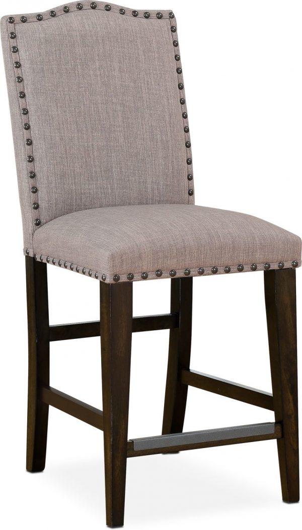 Innovative Hampton Counterheight Upholstered Stool Cocoavalue Medium