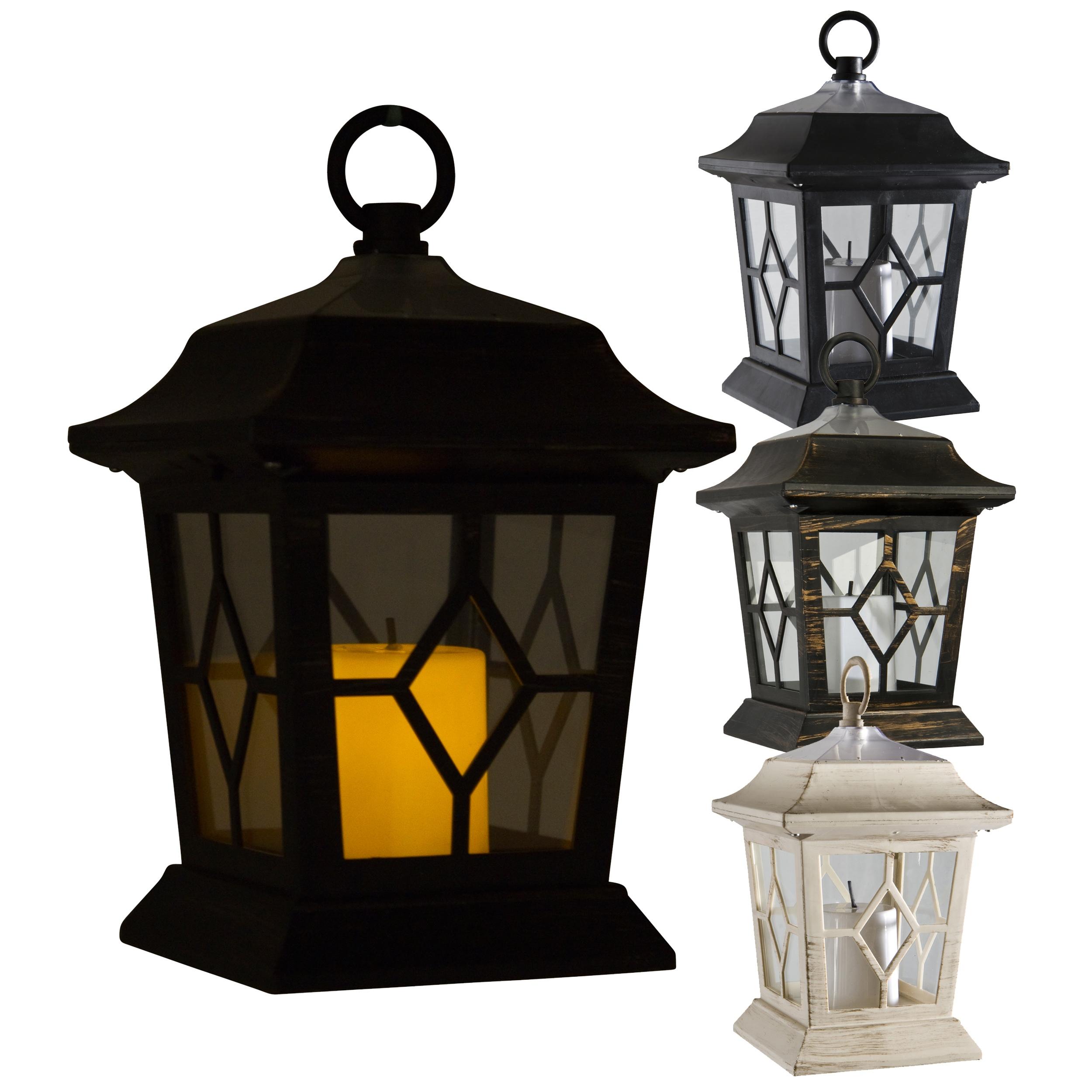 innovative led solar powered victorian candle lantern lamp light