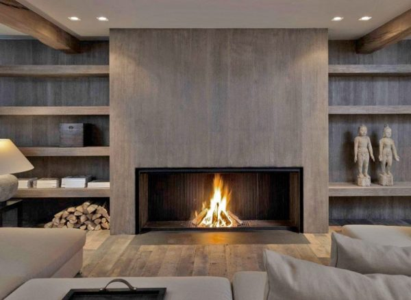 Innovative Metalfire Fireplace With A Modern Wood Lookby The Medium