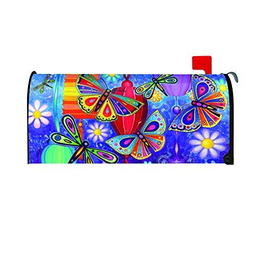 Innovative Toland Home Garden Bright Wings Decorative Mailbox Cover Medium