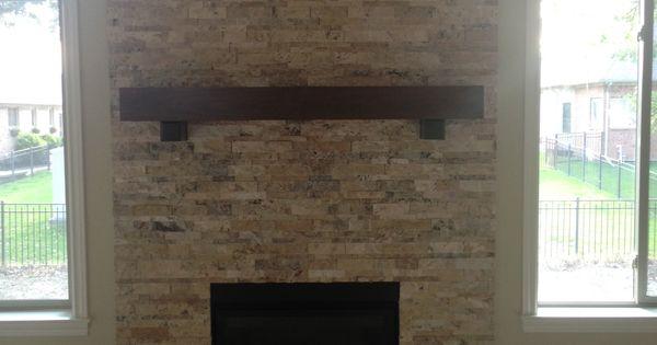 innovative travertine stacked stone fireplacemy designs