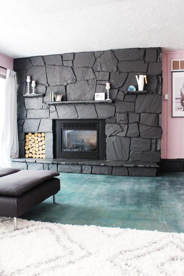 Inspiration 25  Best Ideas About Painted Rock Fireplaces On Medium
