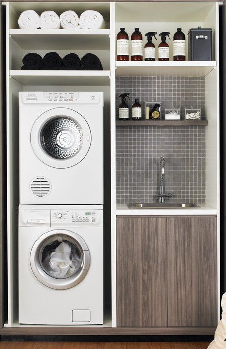 Inspiration 25  Best Ideas About Small Laundry Rooms On Medium