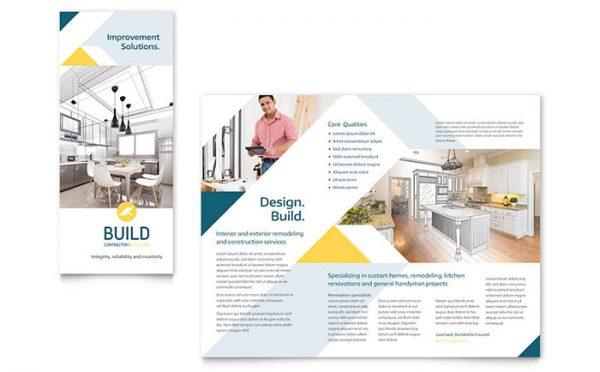 Inspiration Contractor Brochure Template Design Medium