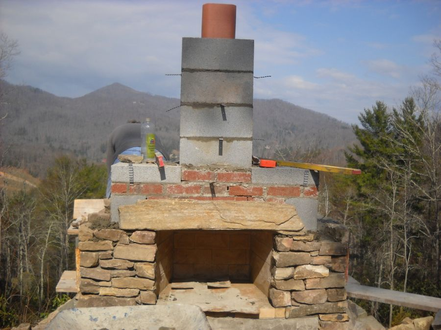 inspiration how to build an outdoor stone fireplace step by step