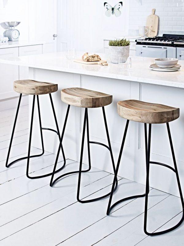 Inspiration New Kitchen Wood Top Bar Stools Renovation Withpomoysamcom Medium