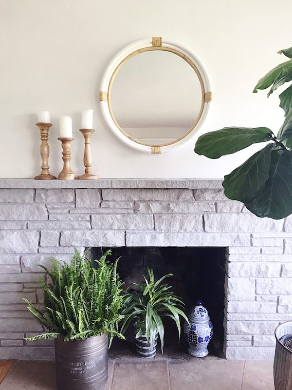Inspiration Painted Stone Fireplace Makeover The Inspired Room Medium