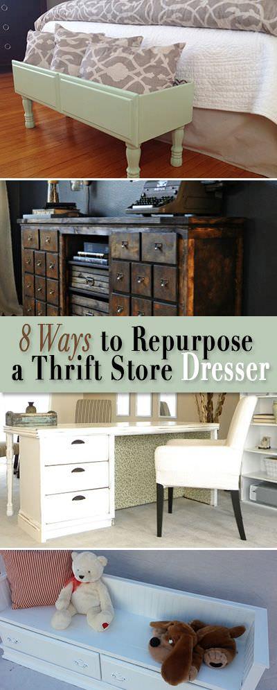inspiration repurposed furniture thrift store dresser makeover ideas