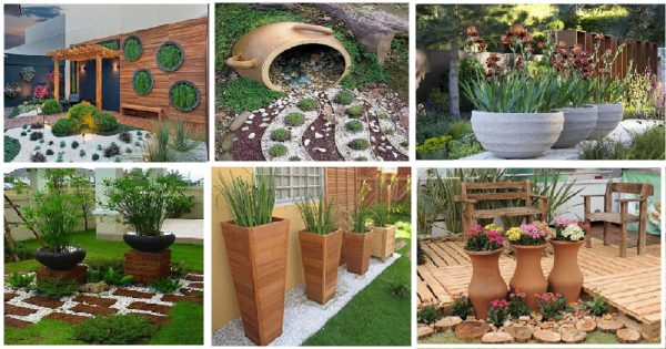 Inspirational 10 Creative Diy Garden Ideas With Rocks And Pots Genmice Medium