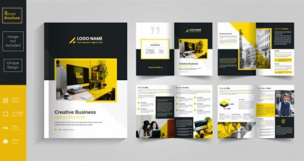 Inspirational Brochure Template Design Vectorfree Download Medium