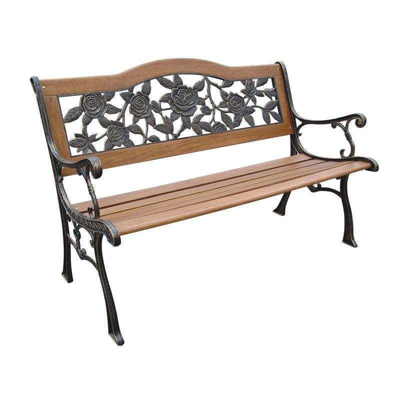 inspirational dc america rose resin back 4 ft garden bench outdoor