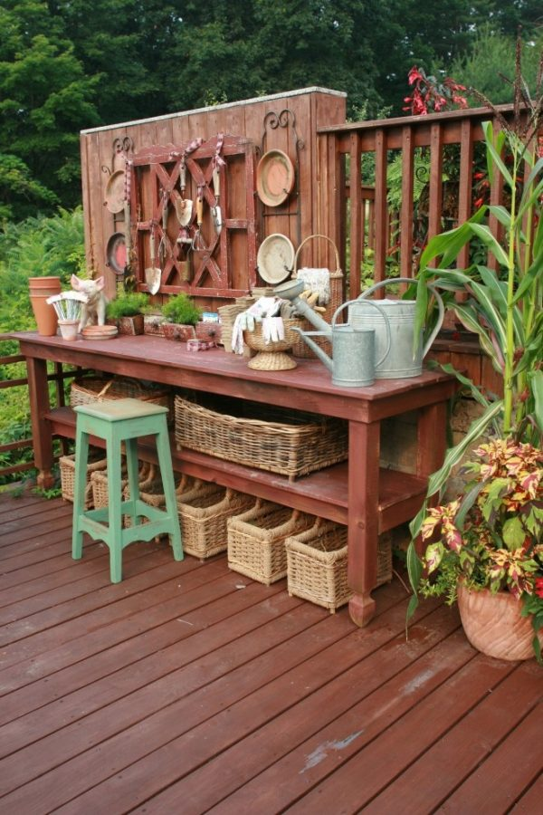 Inspirational Pretty Potting Tables For Spring Sprucing Your Home Medium
