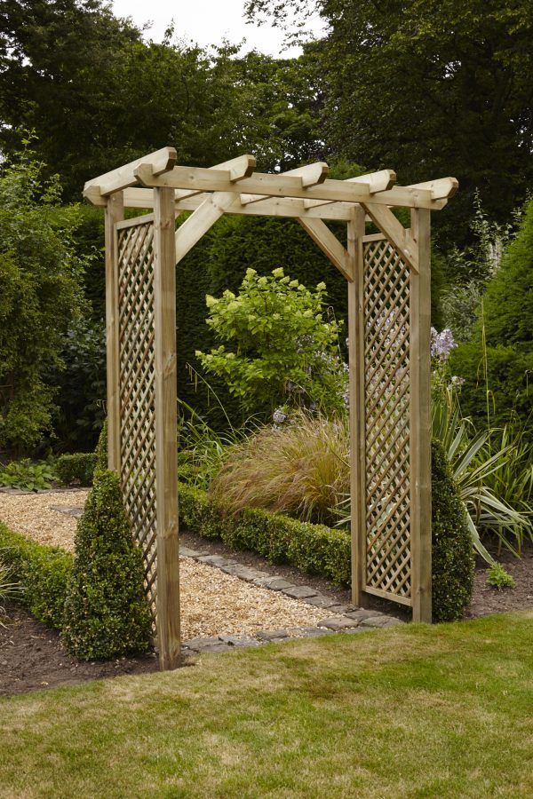 Looking Anchor Fast Squared Lattice Arch Simply Wood Medium