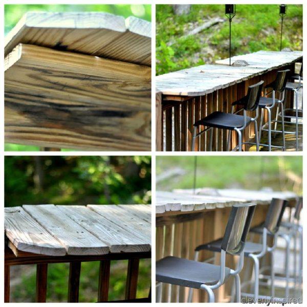 Looking Cool Rustic Outdoor Bar Area  Diyoutdoor Spaces Medium