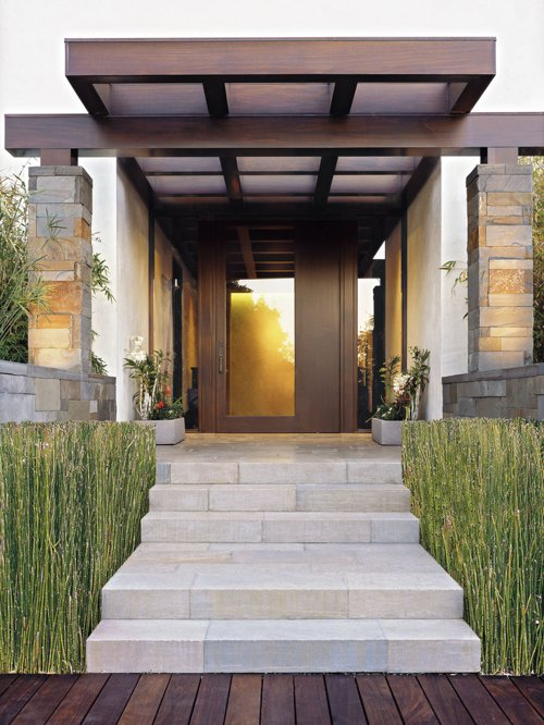Looking Front Entry Rambler Pergola Home Design Ideas Pictures Medium
