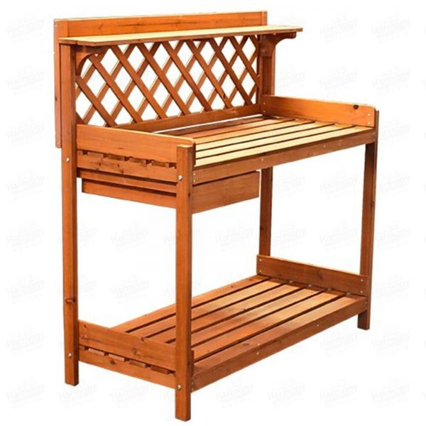 looking Potting Bench Garden Outdoor Wooded Work Bench Table