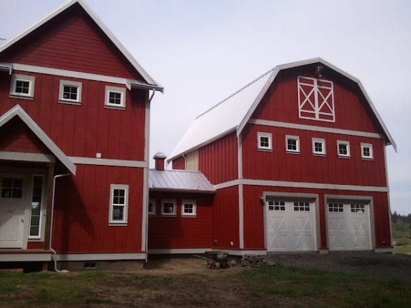 Looking Red Barn Farm House Eclectic Exterior Seattle Medium