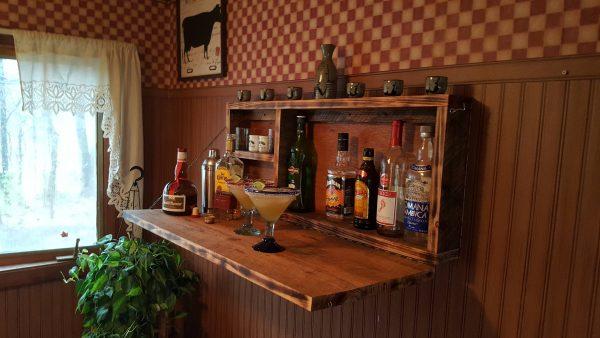 Looking Rustic Murphy Bar Wall Mount Bar Man Cave Liquor Cabinet Medium