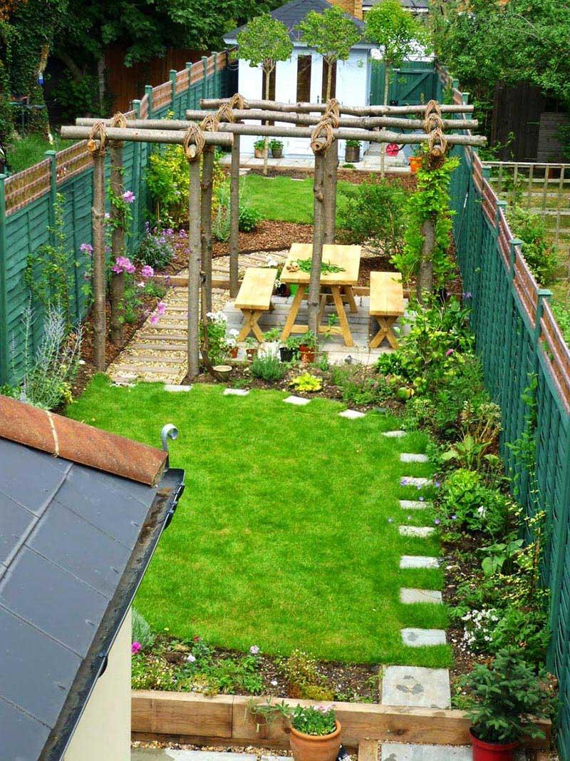 looking sloping garden design ideas quiet corner