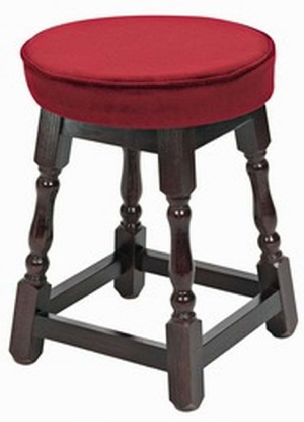 Looking Small Piped Top Wooden Stool   Pub Chairs By Trent Furniture Medium