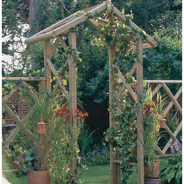 Looking The Forest Rose Arch Is A Sturdy Wooden Garden Arch Medium