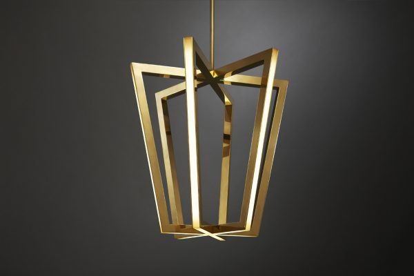 Our Favorite Asterix A Family Of Geometric Brass Chandeliers Design Milk Medium