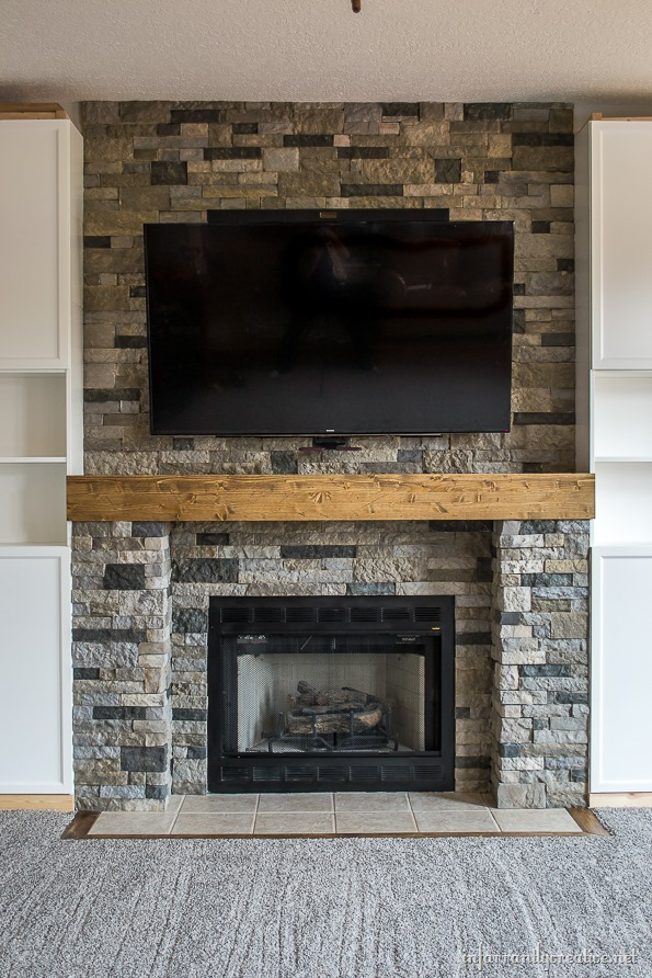 Our Favorite Family Room Makeover Part 4 Airstone Fireplace Makeover Medium