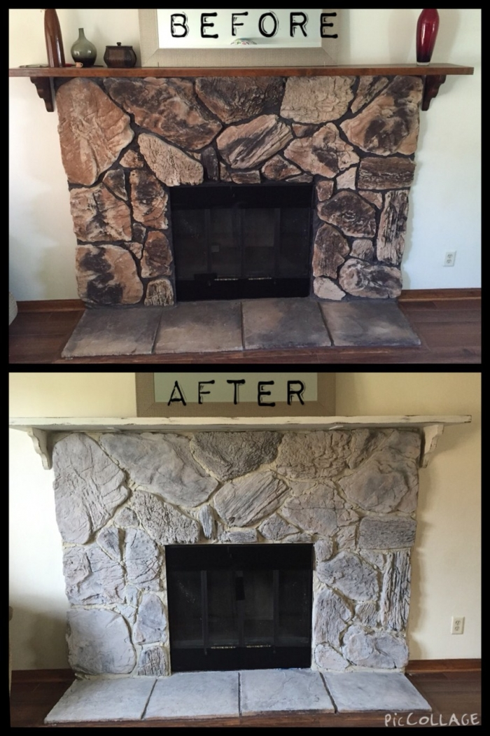 our favorite here it is the ugliest stone fireplace youve ever seen