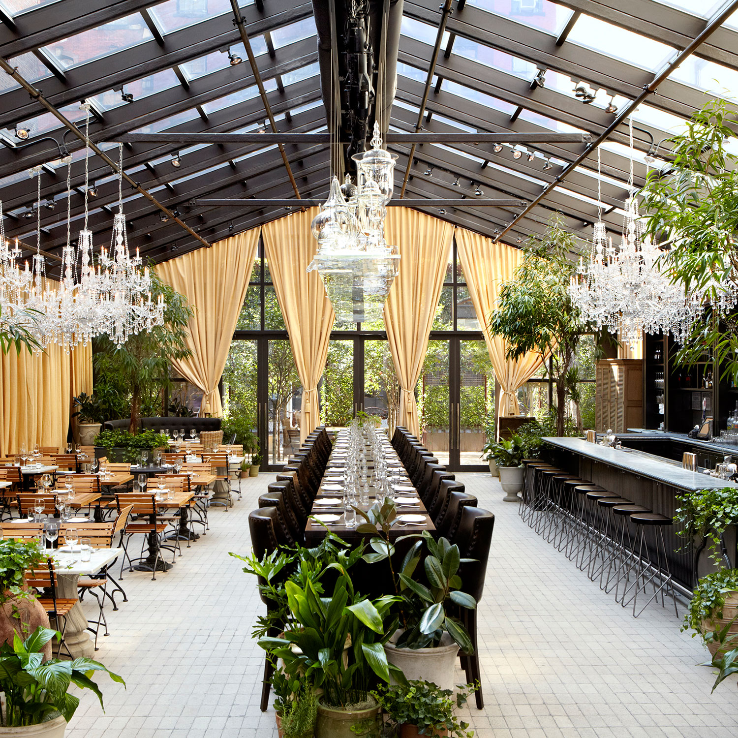 our favorite new yorks chicest garden restaurants best restaurants